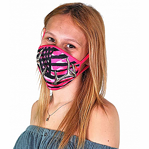 Wild Smiles Face Mask - Child - Camo Pink Antler