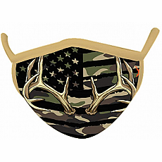 Wild Smiles Face Mask - Child - Camo Green Antler