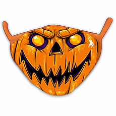 Wild Smiles Face Mask - Adult - Pumpkin