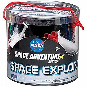 Space Exploration 20pc Playset with Playmat