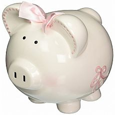 Sparkle Dress Piggy Bank 8""