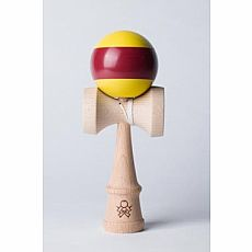 F3 aTack Stripe Kendama - Yellow/Maroon