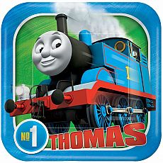 Thomas All Aboard Square Plates 7""