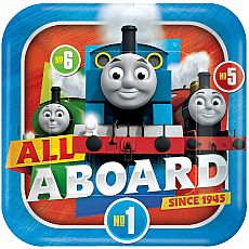Thomas All Aboard Square Plates 9""
