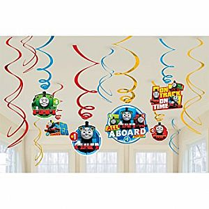 Thomas All Aboard Swirl Decorations