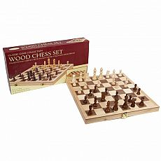 Deluxe Wood Chess Set 18""